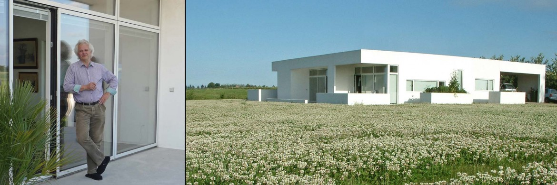 Arkitektens egen minimalistiske plusenergi villa