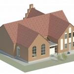 Thyholm kirkecenter skitse
