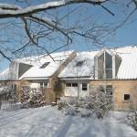 Tegl i sne